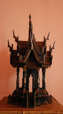photo of Thai spirit house